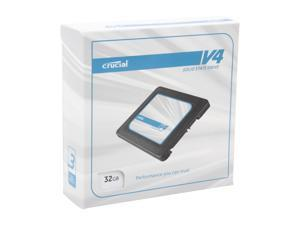 "Crucial V4 CT032V4SSD2BAA 2.5"" 32GB SATA II MLC Internal Solid State Drive (SSD) with Easy Desktop Install Kit"