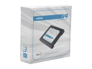 "Crucial V4 CT064V4SSD2BAA 2.5"" 64GB SATA II MLC Internal Solid State Drive (SSD) with Easy Desktop Install Kit"