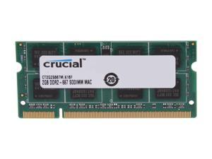 Crucial 2GB 200-Pin DDR2 SO-DIMM DDR2 667 (PC2 5300) Memory for Apple Model CT2G2S667M