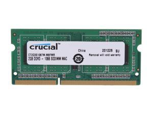 Crucial 2GB DDR3 1066 (PC3 8500) Memory for Apple Model CT2G3S1067M