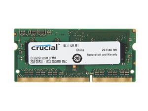 Crucial 2GB DDR3 1333 (PC3 10600) Memory for Apple Model CT2G3S1339M