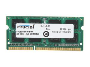 Crucial 4GB 204-Pin DDR3 SO-DIMM DDR3 1600 (PC3 12800) Memory for Apple Model CT4G3S160BM