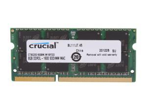 Crucial 8GB DDR3 1600 Memory for Apple Model CT8G3S160BM