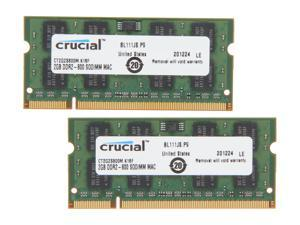 Crucial 4GB (2 x 2GB) DDR2 800 Memory for Apple