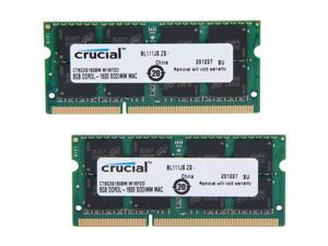 Crucial 16GB (2 x 8GB) DDR3L 1600 (PC3L 12800) Unbuffered Memory for Mac Model CT2K8G3S160BM