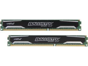 Ballistix Sport 8GB (2 x 4GB) 240-Pin DDR3 SDRAM DDR3L 1600 (PC3L 12800) Low Profile Intel Desktop Memory Model BLS2K4G3D1609ES2LX0