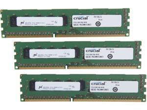 Crucial 12GB (3 x 4GB) 240-Pin DDR3 SDRAM ECC Unbuffered DDR3 1333 (PC3 10600) Server Memory Model CT3KIT51272BD1339