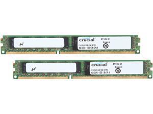 Crucial 8GB (2 x 4GB) 240-Pin DDR3 SDRAM ECC Registered DDR3 1333 (PC3 10600) Server Memory Model CT2K4G3ERVLD81339
