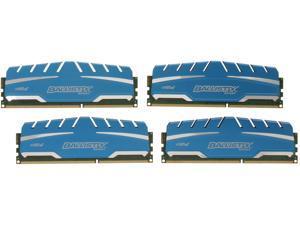 Crucial Ballistix Sport XT 16GB (4 x 4GB) 240-Pin DDR3 SDRAM DDR3 1600 (PC3 12800) Desktop Memory Model BLS4K4G3D169DS3