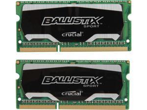 Ballistix Sport SODIMM 8GB (2 x 4GB) 204-Pin DDR3 SO-DIMM DDR3 1866 (PC3 14900) Laptop Memory Model BLS2K4G3N18AES4