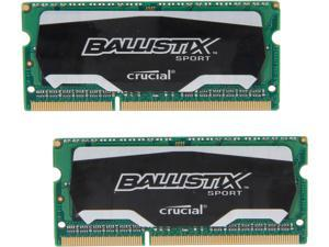 Crucial Ballistix Sport 8GB (2 x 4GB) 204-Pin DDR3 SO-DIMM DDR3 1600 (PC3 12800) Laptop Memory Model BLS2K4G3N169ES4