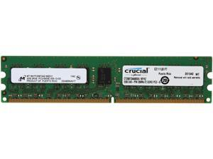 Crucial 2GB 240-Pin DDR2 SDRAM ECC Unbuffered DDR2 800 (PC2 6400) Server Memory Model CT25672AA80EA