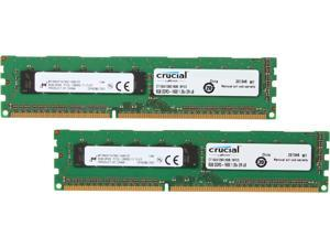 Crucial 16GB (2 x 8GB) 240-Pin DDR3 SDRAM ECC Unbuffered DDR3L 1600 (PC3L 12800) Server Memory Model CT2KIT102472BD160B