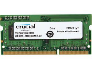 Crucial 4GB 204-Pin DDR3 SO-DIMM DDR3 1333 (PC3 10600) Laptop Memory Model CT51264BF1339