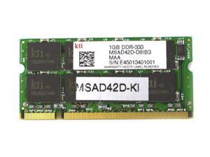 KINGMAX 1GB 200-Pin DDR SO-DIMM DDR 333 (PC 2700) Laptop Memory Model MSAD42F-KI - OEM