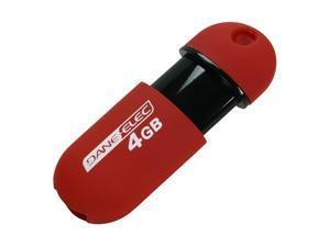 DANE-ELEC 4GB USB 2.0 Flash Drive Capless (Red)