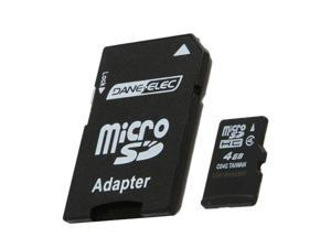 DANE-ELEC 4GB microSDHC Flash Card w/ SD Adapter