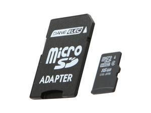 DANE-ELEC 16GB microSDHC Flash Card w/ SD Adapter