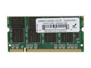 Wintec AMPO 1GB 200-Pin DDR SO-DIMM DDR 333 (PC 2700) Laptop Memory Model 3AMD1333N-1G-R