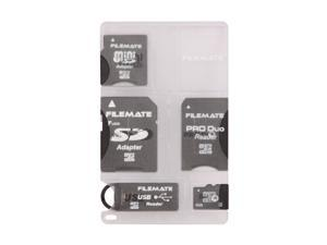 Wintec FileMate 4GB microSDHC Card-It-All Adapter Kit Model 3FMUSDCK4GB-R