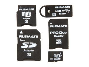Wintec FileMate 8GB microSDHC Card-It-All Adapter Kit