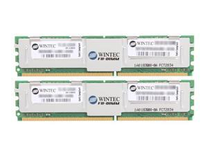 Wintec 4GB (2 x 2GB) 240-Pin DDR2 FB-DIMM ECC Fully Buffered DDR2 667 (PC2 5300) Dual Channel Kit Server Memory Model 3SRT6679FBD4GK