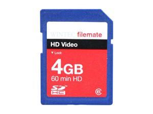 Wintec FileMate HD Video 4GB Secure Digital High-Capacity (SDHC) Flash Card Model 3FMSD4GBC6-R