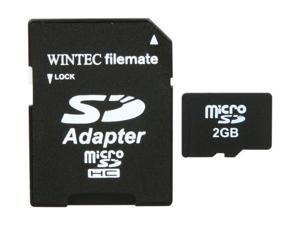 WINTEC FileMate 2GB Class 2 microSD Card with SD Adapter