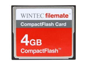 Wintec FileMate 4GB Compact Flash (CF) Card Model 3FMCF4GB-R