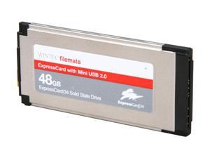 Wintec FileMate 3FMS4D048JM-R ExpressCard 34 48GB ExpressCard 34 & Mini USB 2.0 MLC Internal / External Solid State Drive ...