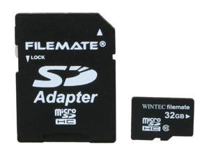 Wintec FileMate Mobile Professional 32GB microSDHC Flash Memory Card with SDHC Adapter Model 3FMUSD32GBC10-R