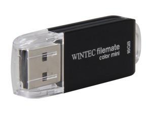 Wintec FileMate Color Mini 16GB USB 2.0 Flash Drive (Black) Model 3FMSP01U2BK-16G-R