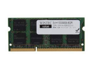 Wintec Value 8GB 204-Pin DDR3 SO-DIMM DDR3 1333 Laptop Memory Model 3VH13339S9-8GR