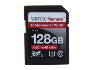 Wintec Professional PLUS 128GB Secure Digital Extended Capacity (SDXC) Flash Card Model 3FMSD128GU1PI-R