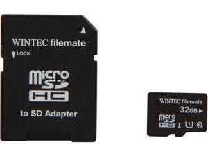 Wintec Filemate Professional Plus 32GB microSDHC Flash Card with  Adapter Model 3FMUSD32GU1PI-R