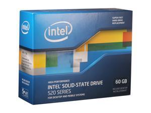 """Intel 520 Series Cherryville SSDSC2CW060A3K5 2.5"""" 60GB SATA III MLC Internal Solid State Drive (SSD)"""