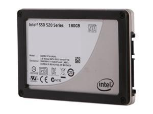 """Intel 520 Series Cherryville SSDSC2CW180A310 2.5"""" 180GB SATA III MLC Internal Solid State Drive (SSD) - OEM"""