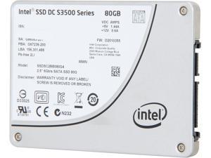 """Intel SSD DC S3500 Series 2.5"""" 80GB SATA III MLC Internal Solid State Drive (SSD) SSDSC2BB080G401"""