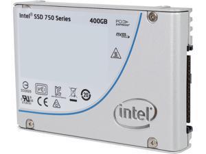 """Intel 750 Series 2.5"""" U.2 (M.2 adaptor) 400GB PCI-Express 3.0 x4 MLC Internal Solid State Drive (SSD) SSDPE2MW400G4M2"""
