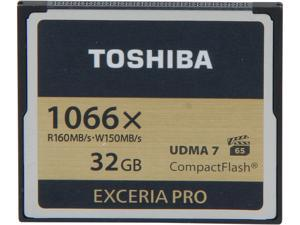 Toshiba EXCERIA PRO 32GB Compact Flash (CF) Flash Card Model THNCF032GSGI