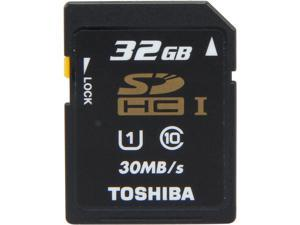 Toshiba 32GB Secure Digital High-Capacity (SDHC) Flash Card Model PFS032U-1DCK