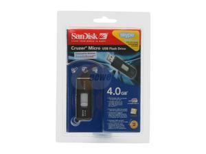 SanDisk Cruzer Micro 4GB Flash Drive (USB2.0 Portable)