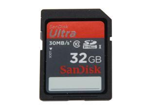 SanDisk Ultra 32GB Secure Digital High-Capacity (SDHC) Flash Card Model SDSDU-032G-A11