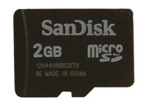 SanDisk 2GB MicroSD Flash Card Model SDSDQM-002G-B35