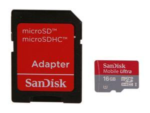 SanDisk Mobile Ultra 16GB microSDHC Flash Card