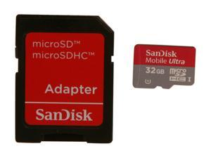 SanDisk Mobile Ultra 32GB microSDHC Flash Card Model SDSDQUA-032G-A11A