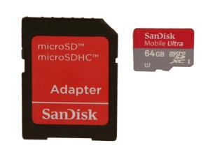SanDisk Mobile Ultra 64GB microSDXC Flash Card Model SDSDQUA-064G-A11A