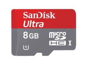 SanDisk Ultra 8GB microSDHC Flash Card With Adapter Model SDSDQUA-008G-A46A