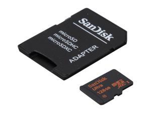 SanDisk Ultra 128GB microSDXC Flash Card with adapter - Global Model SDSDQUAN-128G-G4A