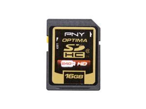 PNY Optima 16GB Secure Digital High-Capacity (SDHC) Flash Card Model P-SDH16G4-EF/S2